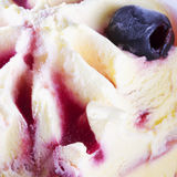 Cherry Ice cream in close up Royalty Free Stock Photos