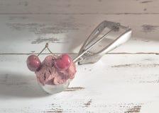 Cherry Ice Cream stock afbeeldingen