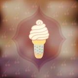 Cherry ice cream Stock Photo