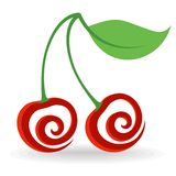 Cherry Icon Royaltyfria Bilder