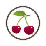 Cherry Icon Immagine Stock