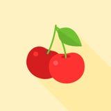 Cherry Icon Fotografia Stock Libera da Diritti