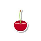 Cherry Icon Photo libre de droits