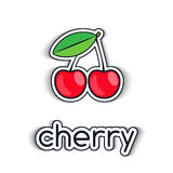Cherry  icon in a flat style Stock Photo