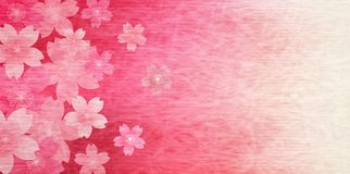 Cherry illustration material that imaged Japanese spring royalty free illustration
