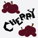 Cherry Illustration Wallpaper stock foto's