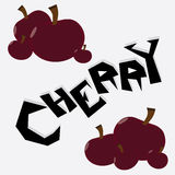 Cherry Illustration Wallpaper. Cherry cartoon wallpaper  illustration icons Stock Photos