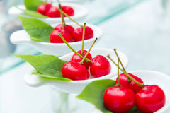 Cherry imitation fruit Stock Photos
