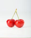 Cherry isolerade red Arkivfoton