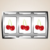 Cherry jackpot Stock Images