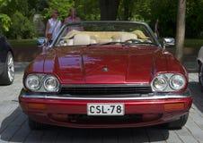 Cherry Jaguar XJ-S (XJS) Bekläda beskådar Royaltyfri Bild