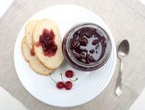 Cherry Jam Royalty-vrije Stock Afbeelding