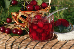 Cherry jam Royalty Free Stock Photo