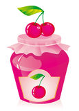 Cherry jam Stock Images