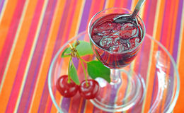 Cherry jam Stock Photography