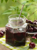 Cherry jam Stock Image