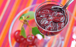 Cherry jam Stock Photo