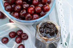 Free Cherry Jam Stock Photography - 56956172