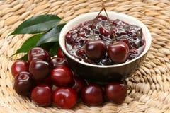 Cherry jam royalty free stock photo