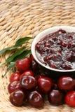 Cherry jam stock photography
