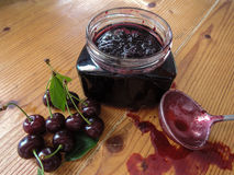 Cherry Jam Images libres de droits