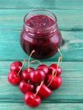 Cherry jam Stock Photos