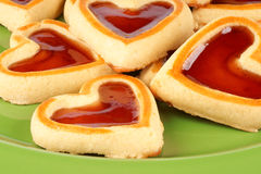 Cherry jam cookies royalty free stock images