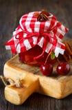 Cherry jam. Royalty Free Stock Photos