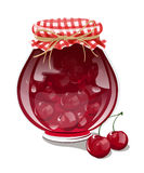 Cherry jam. With fresh cherry  illustration Stock Image