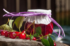 Cherry jam. Royalty Free Stock Images