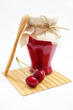 Cherry jam and fruits Royalty Free Stock Photos