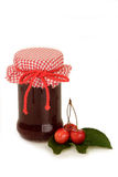 Cherry Jam in a Glass Stock Photography