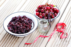Cherry jam Royalty Free Stock Photos