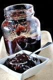 Cherry jam in a small bowl Stock Photography
