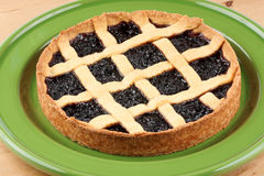Cherry jam tart Stock Photo