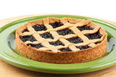 Cherry jam tart Royalty Free Stock Photo