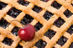 Cherry Jam Tart Closeup royalty free stock photos