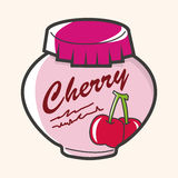 Cherry jam theme elements vector,eps. Vector illustration file Stock Photos