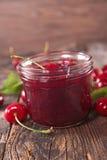 Cherry jam Royalty Free Stock Image