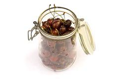 Cherry jar Royalty Free Stock Photos
