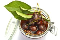 Cherry jar Stock Photo