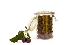 Cherry jar Royalty Free Stock Photo