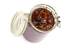 Cherry jar Stock Images