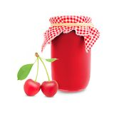 Cherry jar Royalty Free Stock Images