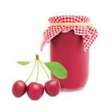 Cherry jar Royalty Free Stock Image