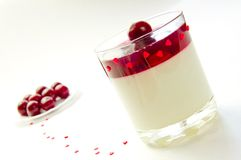 Cherry jelly in a glass Royalty Free Stock Images