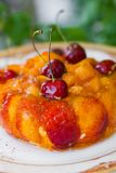 Cherry Jelly cake Royalty Free Stock Photography