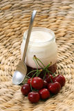 Cherry jogurt Stock Photo