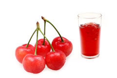 Cherry juice Royalty Free Stock Images