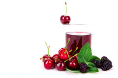Cherry Juice Royaltyfria Bilder